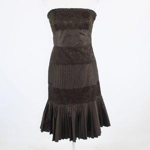 Dark brown BANANA REPUBLIC strapless dress 2